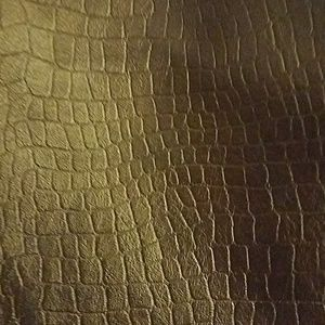 Old Navy brown reptile print leather skirt